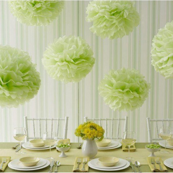 Pelur Kağıt Ponpon Çiçek Asma Süs