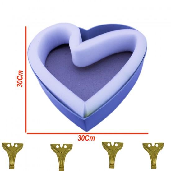 Kalp Tesbih&Havlu Kutu İskeleti (30 CM X 30 CM)