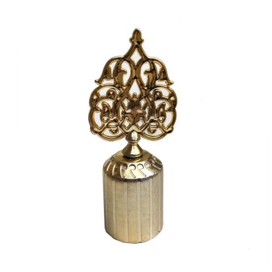 Kapak Kubbe Osmanlı Motifli Plastik Altın/Gümüş (20 Adet)