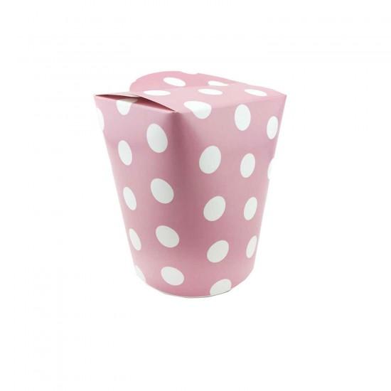 Karton Popcorn Kutusu Kapaklı Mısır Kutusu Elips Model (8 Adet)