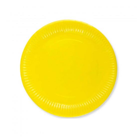 Karton Tabak Düz Renk 23 Cm (8 Adet)