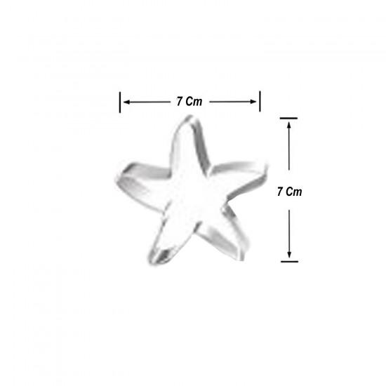 Kek Kurabiye Ve Pasta Kalıbı Metal Şekilli Yıldız Model 7 CM