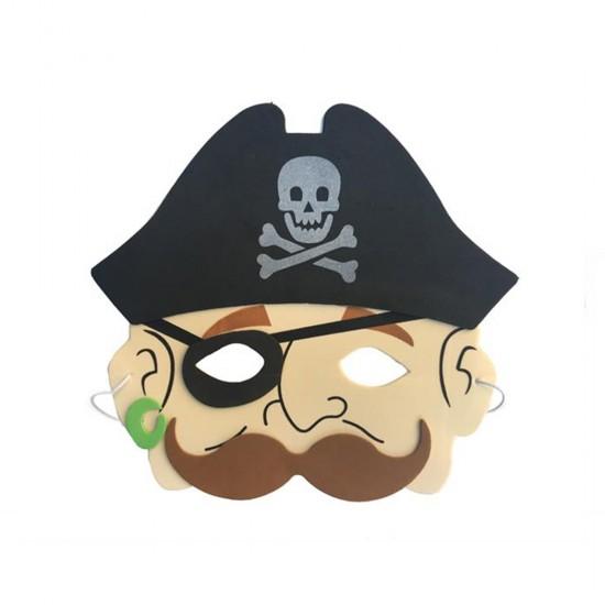 Korsan Temalı Kağıt Maske