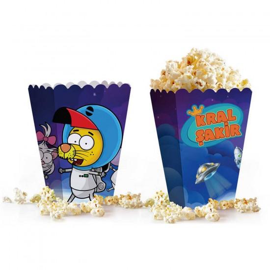 Kral Şakir Uzayda Popcorn Kutusu Mısır Kutusu 0533 (10 Adet)