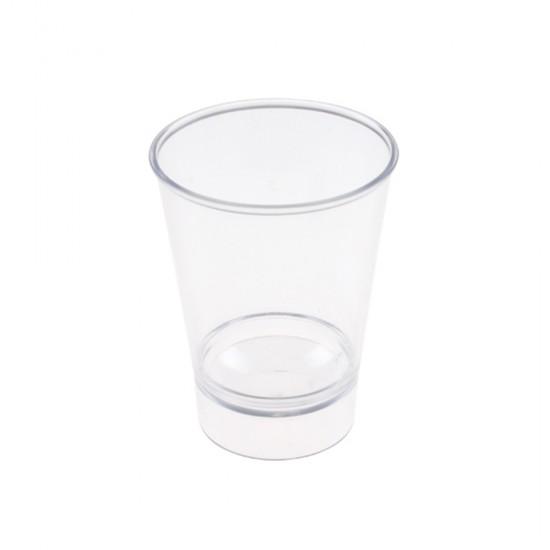 Kristal  Akrilik Shot Bardağı Şeffaf 50 Cc (12 Adet)