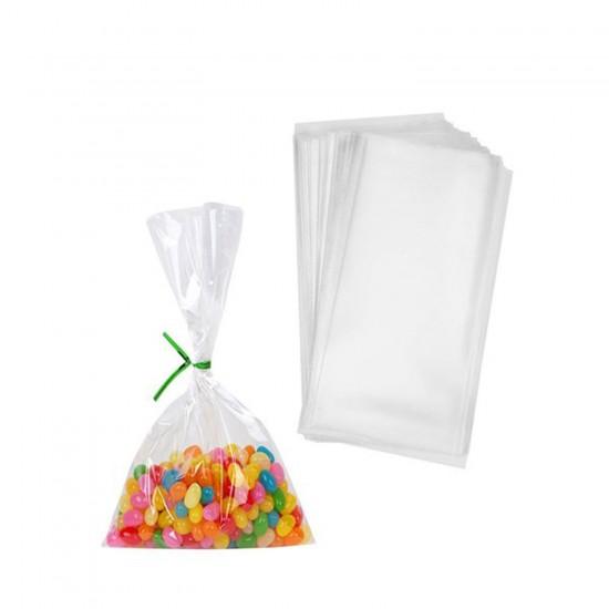 Şeffaf Cake Pops ve Kurabiye Poşeti 10X20 CM (100 Adet)