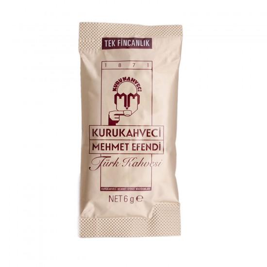 Kurukahveci Mehmet Efendi Türk Kahvesi 6 GR Bir Fincanlık 12 Lİ