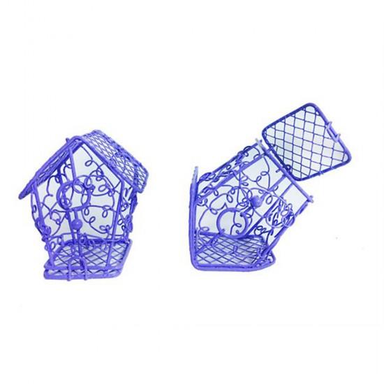 Kuş Kafesi Telden Ev Modeli Renkli (10 Adet)