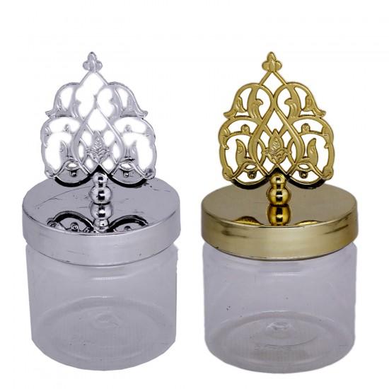 Plastik Kutu Mumluk  Modeli Altın/Gümüş (6 Adet)