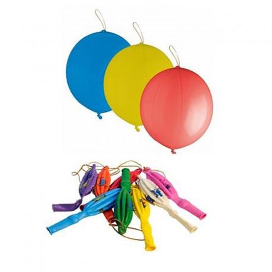 Lastikli Renkli Balon Maxi Punch Lateks Karışık Renk  (10 Adet)