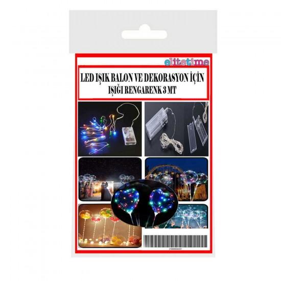 Led Işık Pilli Balon Ve Dekorasyon İçin 3 Metre Rengarek Led Işık