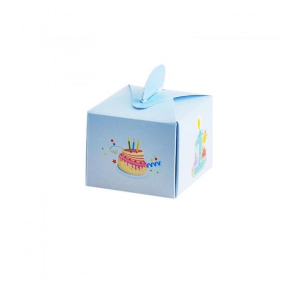 Lokumluk Karton 1 Yaş Mumlu Ve Pastalı (50 Adet)