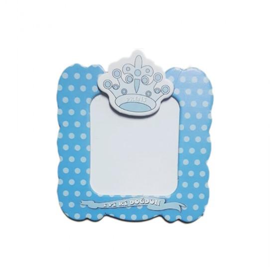 Karton Magnet İyiki Doğdun Prens/ Prenses Taçlı (25 Adet)