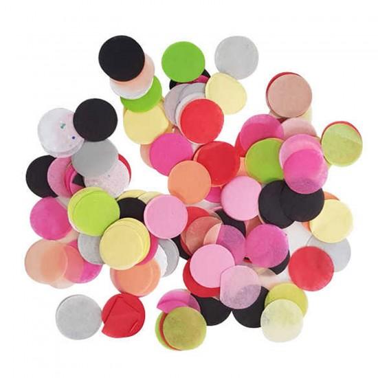 Masa Süs ve Balon İçin Konfeti Süsü Karışık Renk 2 CM 100 GRAM