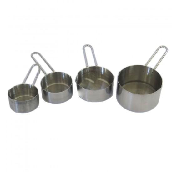 Metal Minik Ölçü Kaşıkları Ölçek Seti 4 lü Set