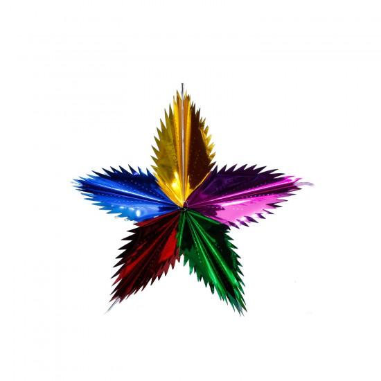 Metalize  Folyo Parlak Süs Yıldız  Model Karışık Renkli 113