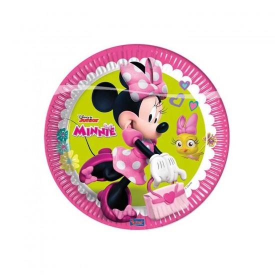 Minnie Mause Happy Helpers Temalı Tabak 23 CM (8 Adet)