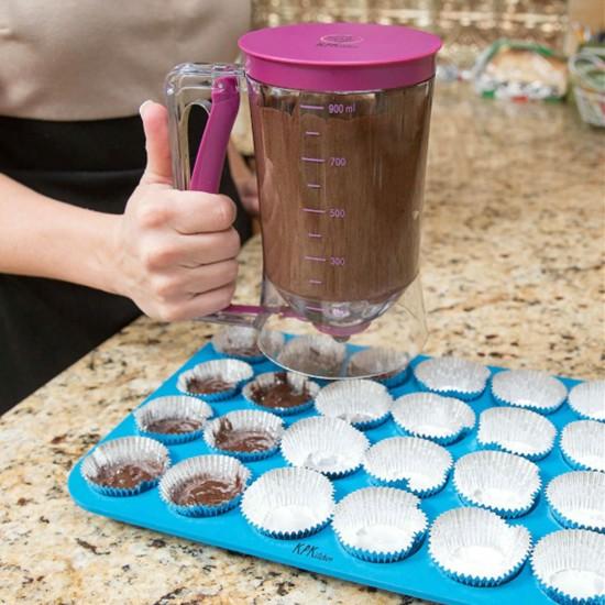 Mutfak Hamuru Dispenseri/ Ölçekli Hamur Dağıtıcı Pankek Cupcake