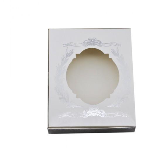 Pencereli Karton Kutu Altın/Gümüş Yaldızlı 15X12X3  (25 Adet)