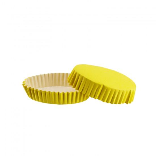 Cupcake Kalıbı Pet Kapsül Oval Model Düz Renk (100 Adet) F11