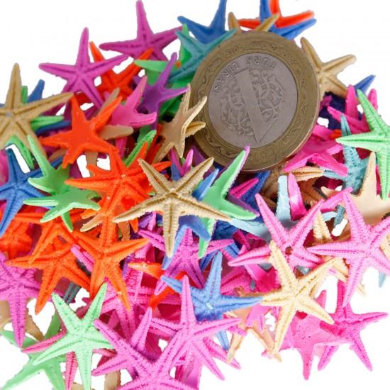 Polyester Deniz Yıldızı Minik Boy  0.5 CM- 1.5 CM (100 Adet)