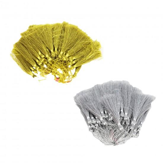 Püskül Gümüş/Altın Simli Parlak (50 Adet)