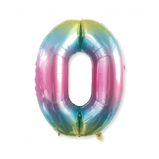 Rakam Folyo Balon Rengarenk Sayı Folyo Balon 100 CM