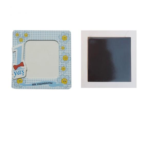 Resim Çerçevesi Karton Magnetli 1 Yaşındayım (25 Adet)