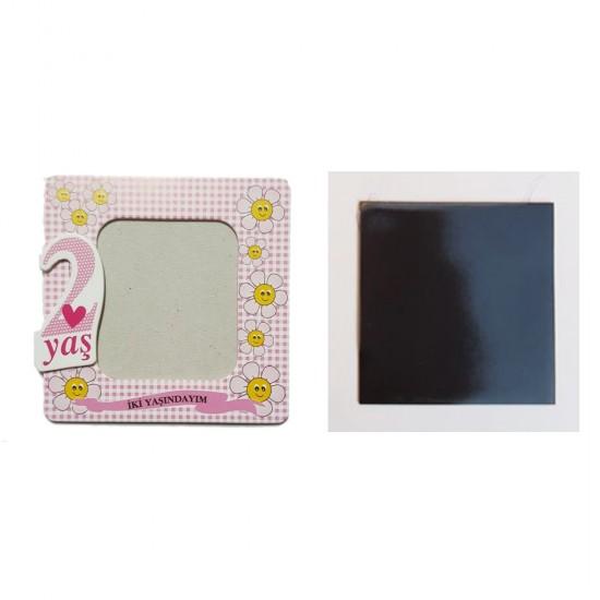 Resim Çerçevesi Karton Magnetli 2 Yaşındayım (25 Adet)