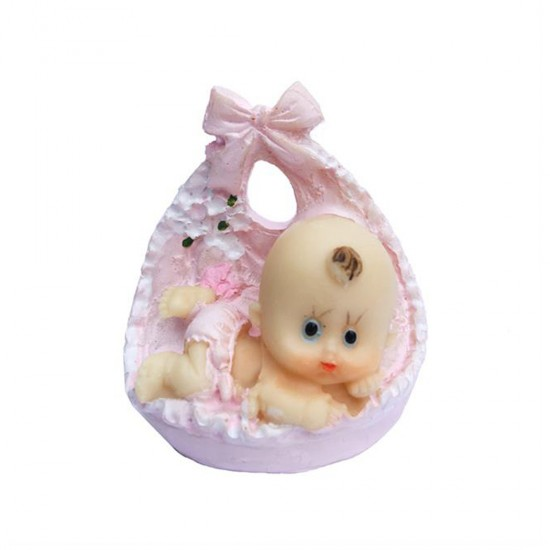 Bebek Şekeri Biblosu Bebek Fiyonklu Büyük Boy (10 Adet)