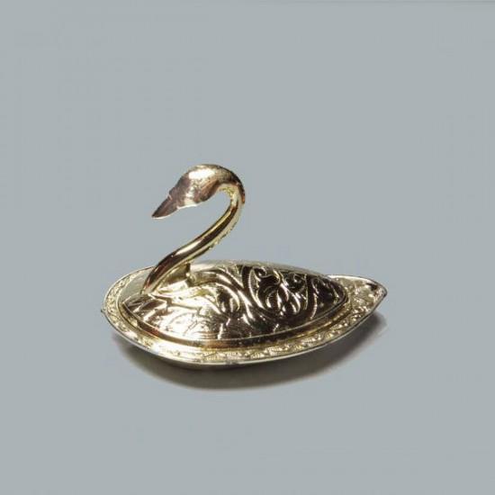 Lokumluk Kuğulu Metal Altın (10 Adet)