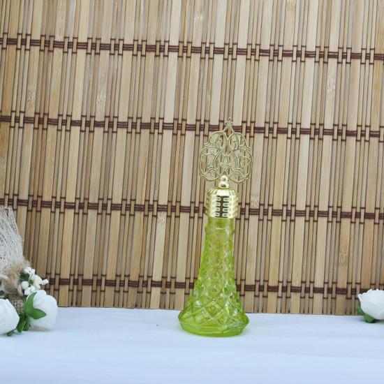 Şişe Cam Metal Altın Kubbeli İksir Modeli Komple Renkli (10 Adet)