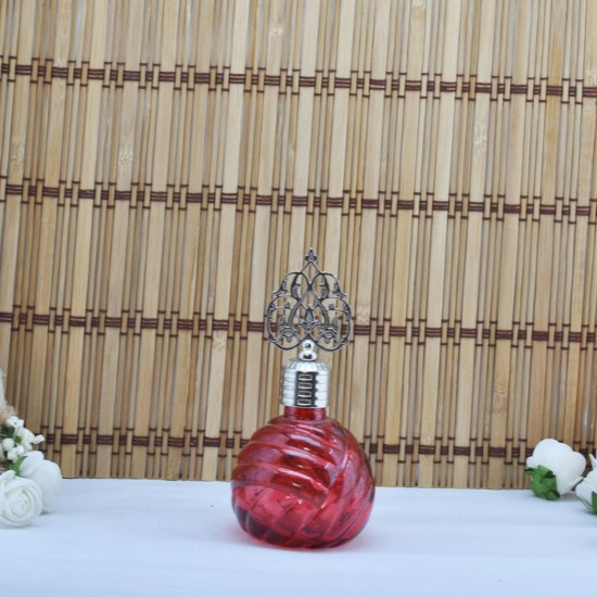 Şişe Cam Metal Gümüş Kubbeli Balon Modeli Komple Renkli (10 Adet)