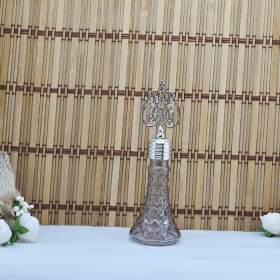 Şişe Metal Gümüş  Kubbeli İksir Modeli Komple Renkli (10 Adet)