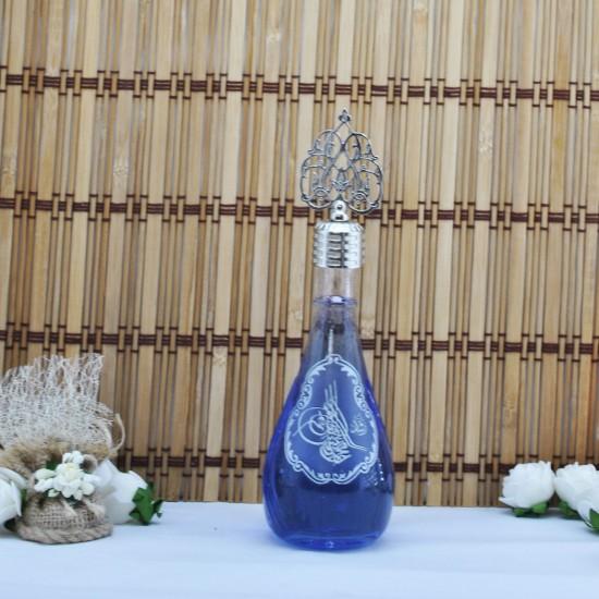 Şişe Cam Metal Kubbeli Gümüş Osmanlı Motifli 110 Cc (10 Adet)
