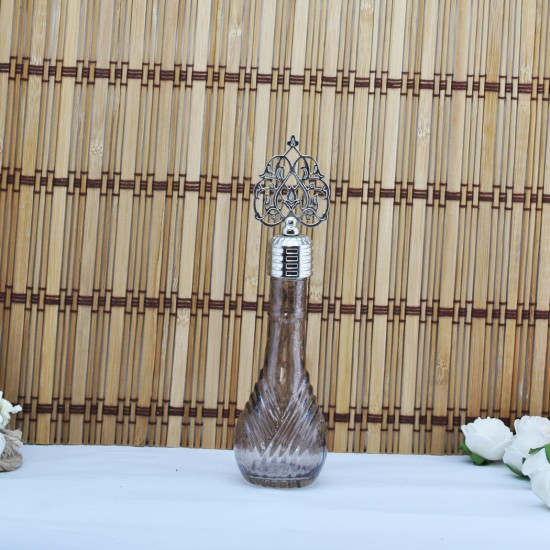 Şişe Metal Gümüş Kubbeli İksir Çizgili Komple Renkli (10 Adet)