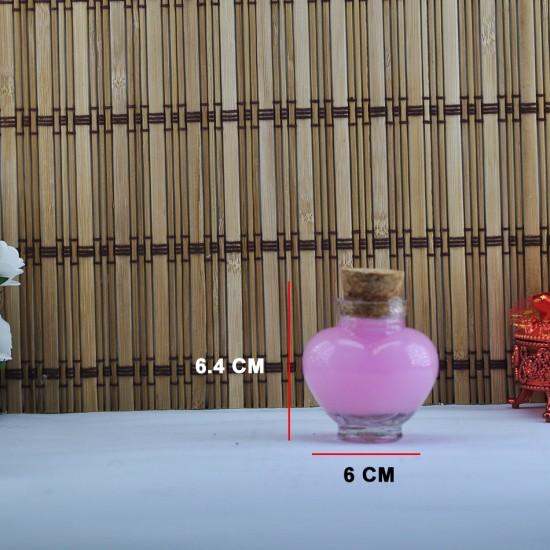Şişe Cam Mantar Tıpalı Kalp Tombul Modeli 40 Cc (50 Adet)