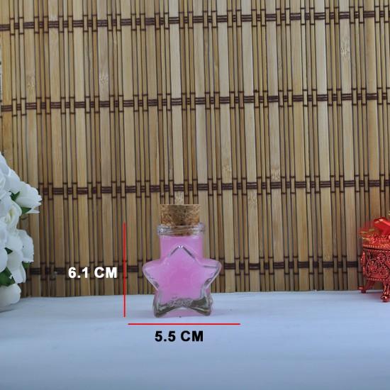 Şişe Cam Mantar Tıpalı Yıldız Bal Kavanozu Modeli 33 Cc (10 Adet)