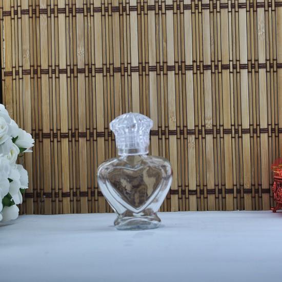 Cam Şişe 50 Cc Kalpli Kral Kapaklı (10 Adet)