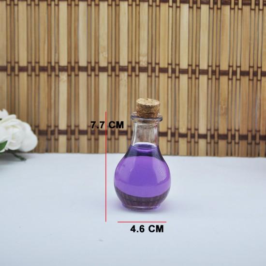 Şişe Cam Mantar Tıpalı İksir Modeli 35 Cc (50 Adet)