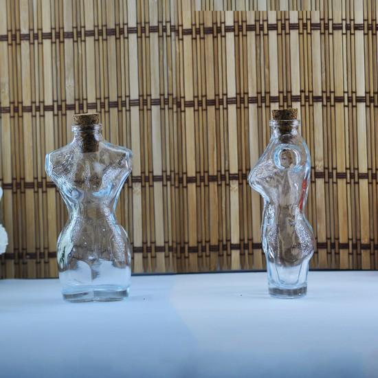 Şişe Cam Mantar Tıpalı Kibela (Kadın) Modeli 120 Cc (10 Adet)