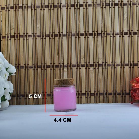 Şişe Cam Mantar Tıpalı Geniş Ağızlı Silindir Model 32 Cc (17 Adet)
