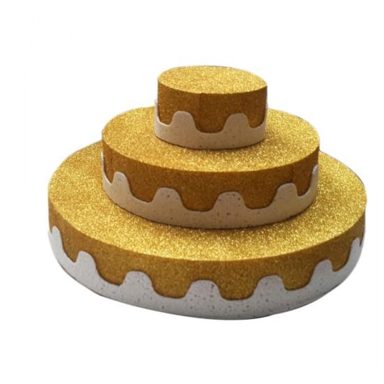 Strafor Pasta 3 Katlı (Strafor Stand 3 Katlı) Altın/Gümüş
