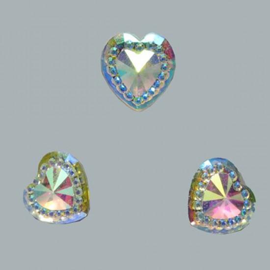 İnci Kalp Pırlanta Görünümlü (200 Adet)