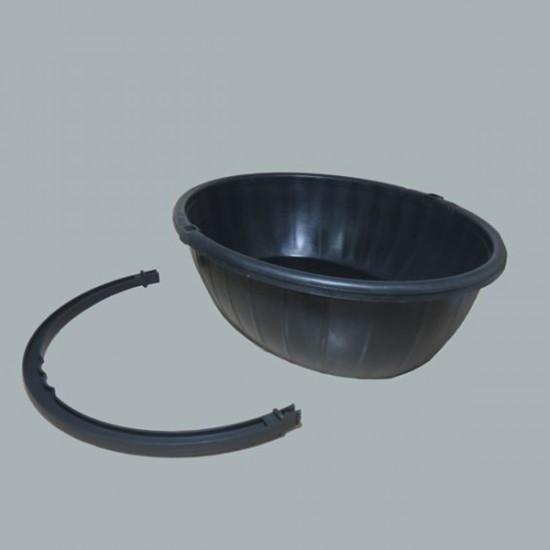 Plastik Sepet Süslenmemiş Oval Küçük Boy