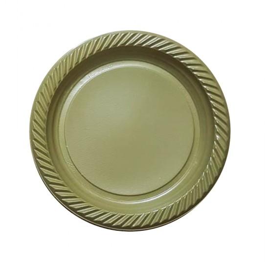 Tabak Plastik Altın/ Gümüş 26 Cm (25 Adet)