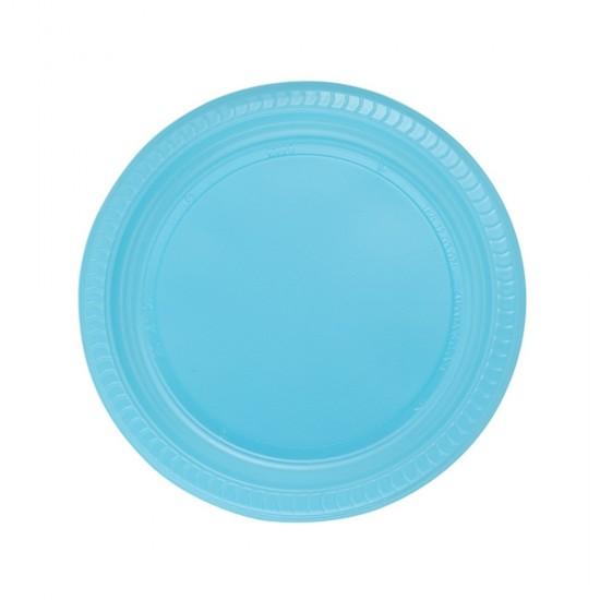 Tabak Plastik Renkli 26 Cm (25 Adet)