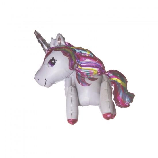 Unicorn Temalı Folyo Balon Tek Boynuzlu At Ayaklı Model 85X50 CM