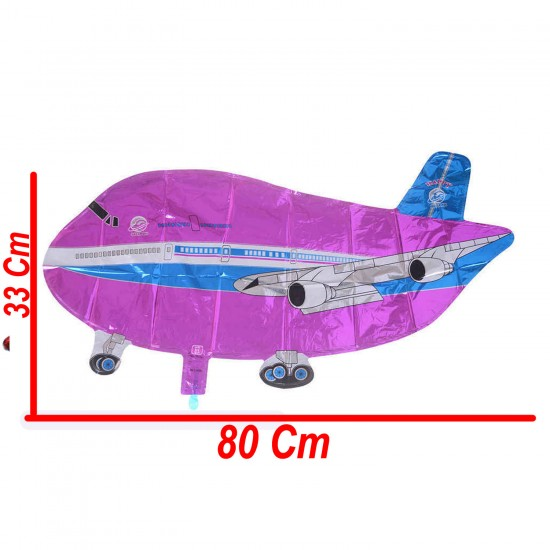 Uçak Folyo Balon Uçak Şeklinde Uçan Folyo Balon 80X33 CM