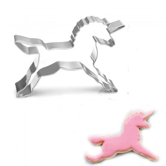 Unicorn Kek Kurabiye Ve Pasta Kalıbı Metal 8,5X8,5 Cm